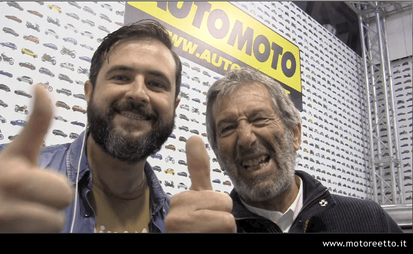 nico cereghini e motoreetto a eicma 2013