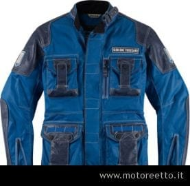 icon 1000 beltway jacket blue front
