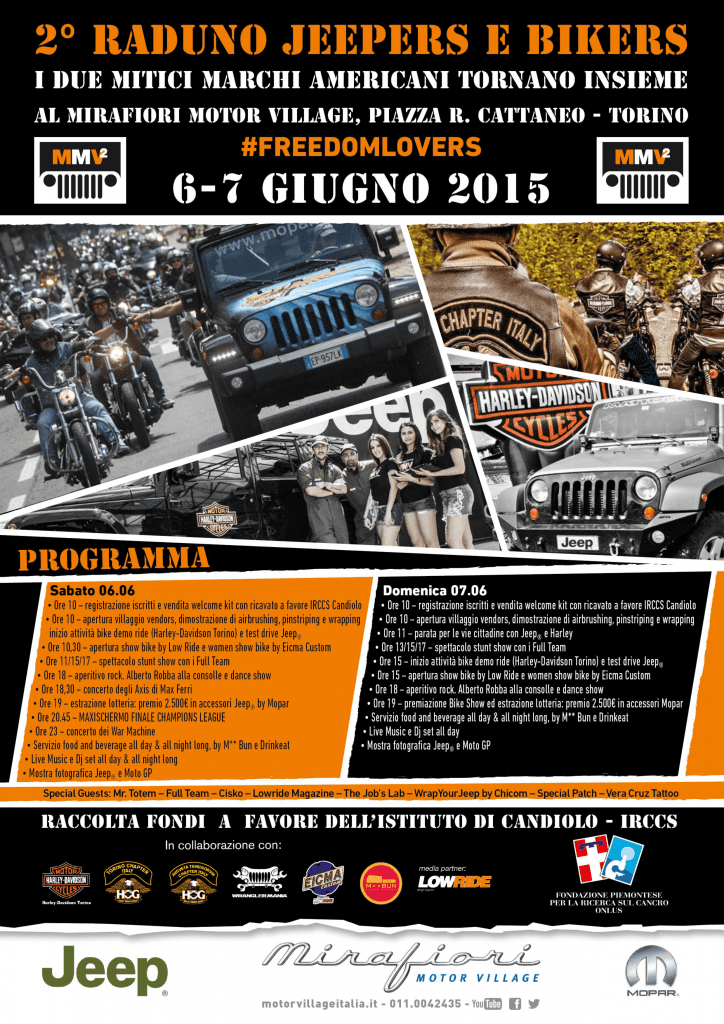 raduno jeepers and bikers torino programma 2015 motoreetto