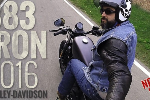 883 iron harley-davidson video test prova motoreetto cover vlog