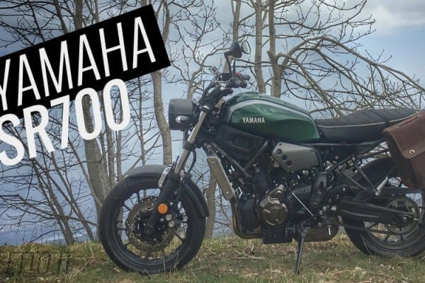 xsr700 yamaha test video prova motoreetto