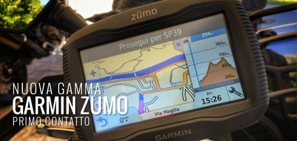 garmin zumo gamma video primo contatto motoreetto