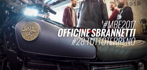 nevada moto guzzi tutto terreno scrambler di officine sbrannetti a motor bike expo 2017 video di motoreetto