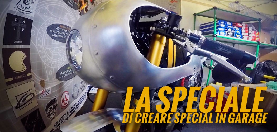la speciale café racer solidale di creare special in garage intervista video motoreetto