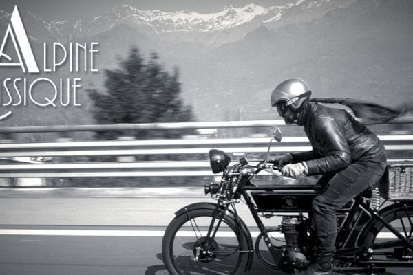 alpine classique with the black douglas sterling motoreetto come un pioniere sulle alpi vintage moto classic