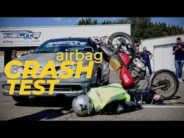 Helite airbag crash test video motoreetto